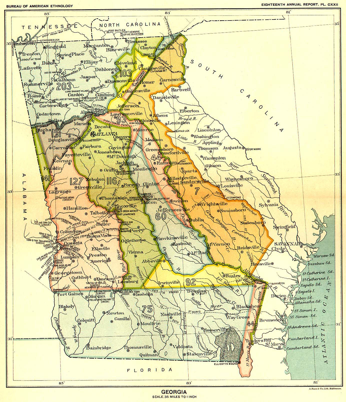 Indian Land Cessions Maps And Treaties In The American Southeast - Map of us tribal lands