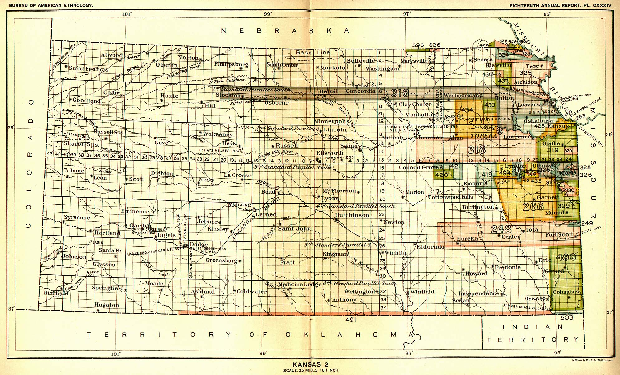 Indian Land Cessions Maps And Treaties In Arkansas Indian - Us map of indian territories
