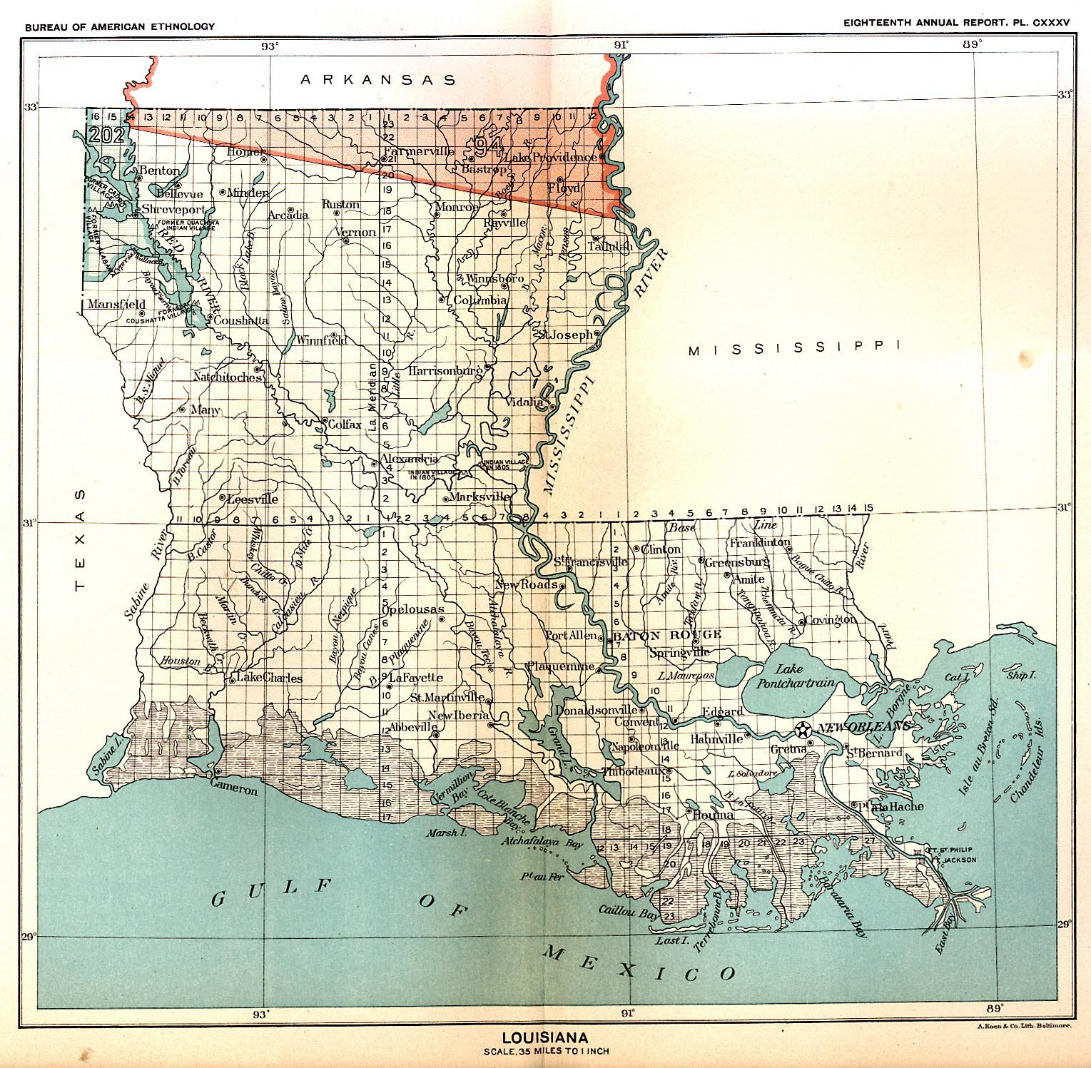 Indian Land Cessions Maps And Treaties In Arkansas Indian Territory - Historic maps louisiana