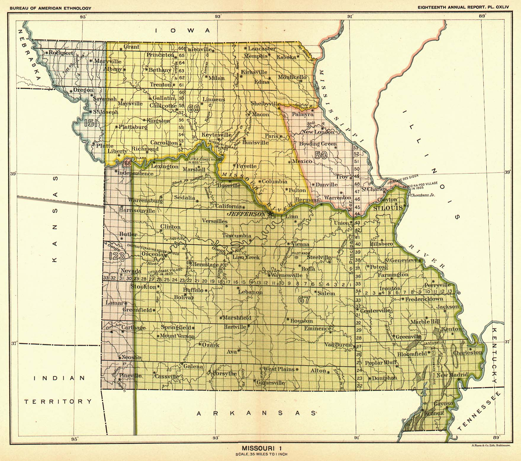 Indian Land Cessions Maps and Treaties in Arkansas Indian