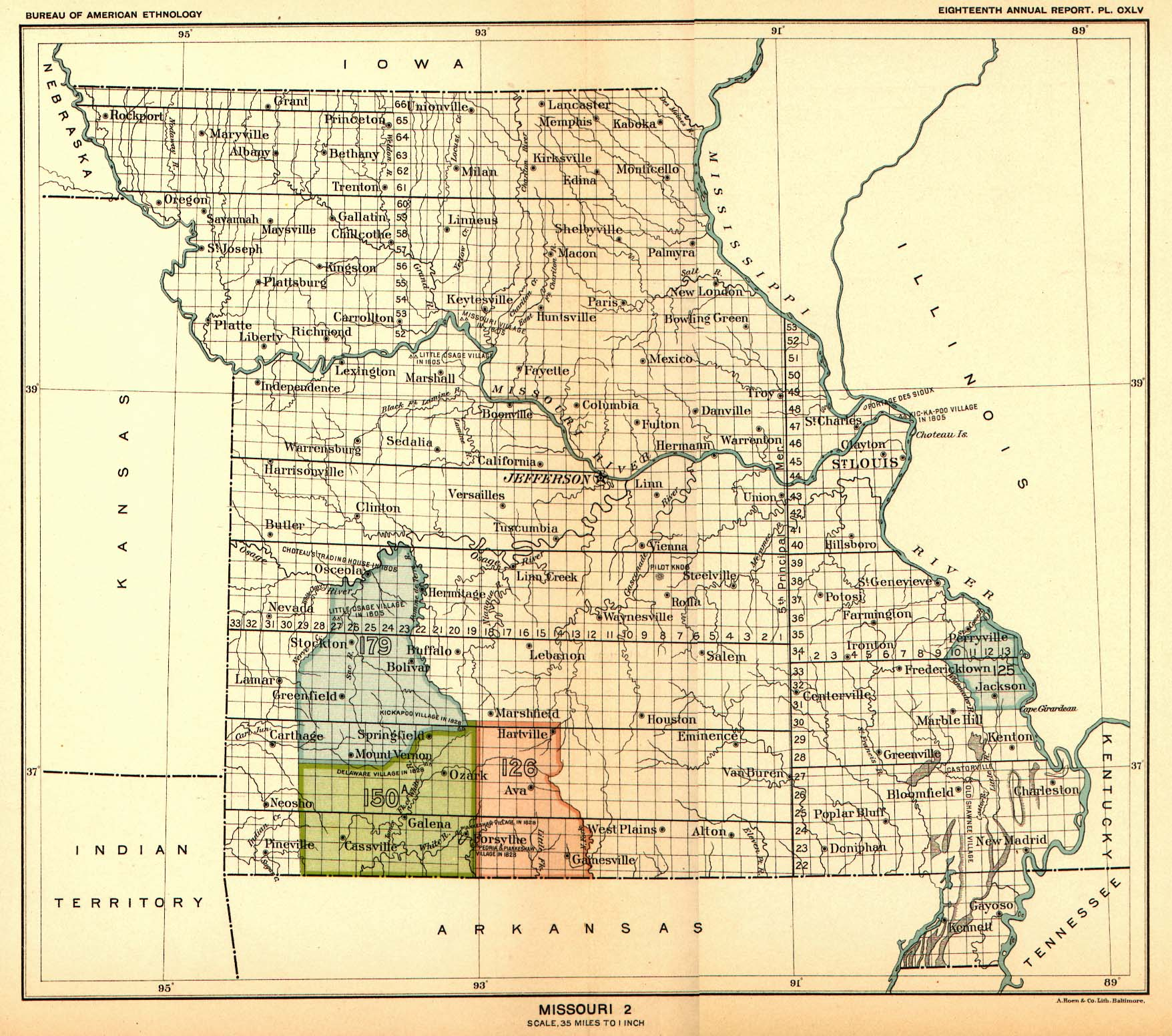 Indian Land Cessions Maps And Treaties In Arkansas Indian - United states map arkansas