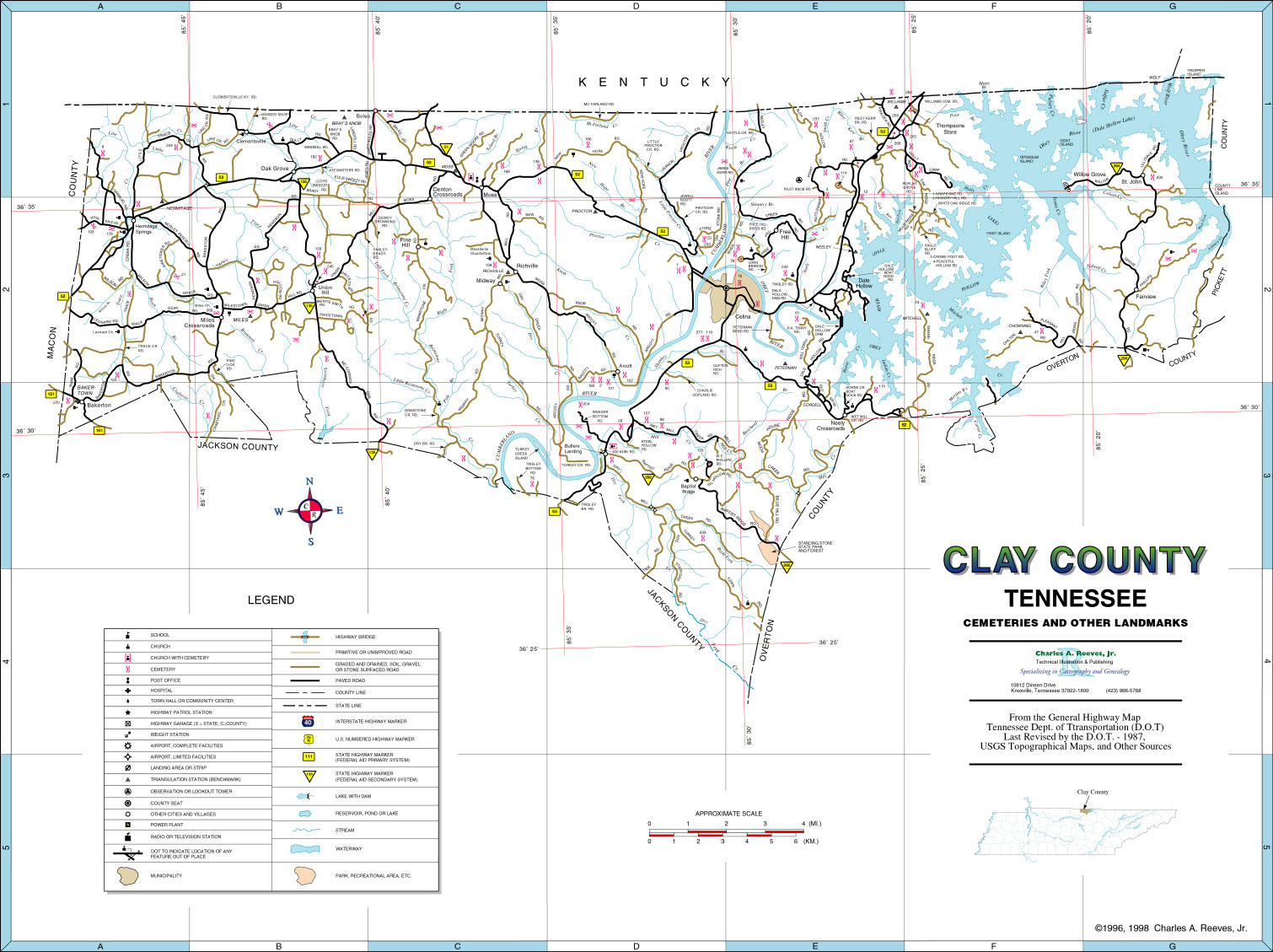 Clay County Tn Map Resources