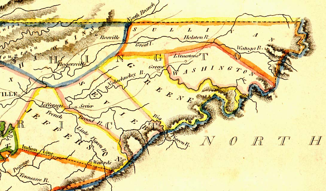Early East and Middle Tennessee Maps. TNGenWeb Project