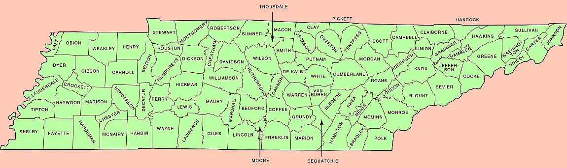 Maps. TNGenNet, TNGenWeb Map Project. Maps Tennessee. Old time maps.