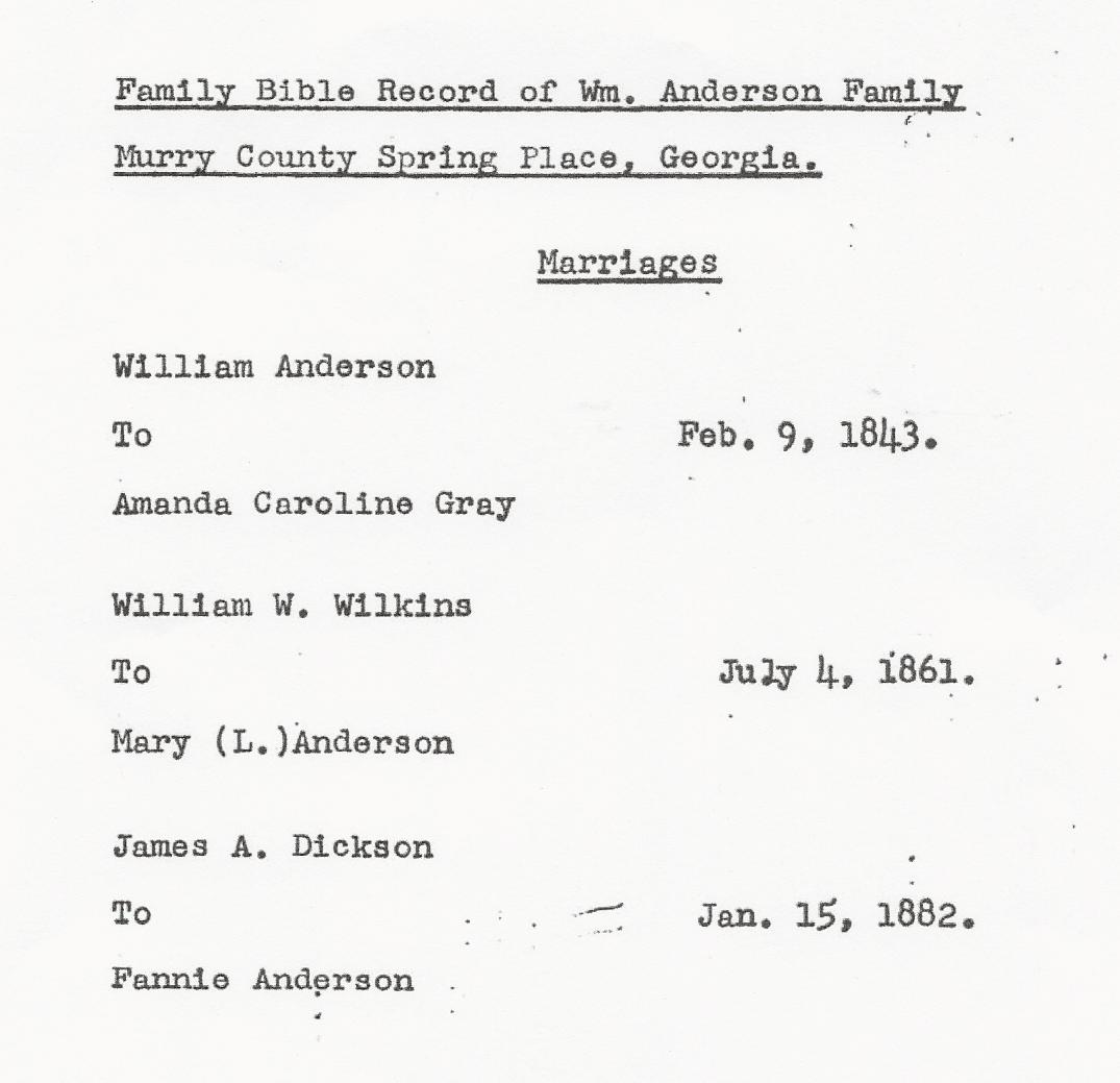 Anderson Bible Records