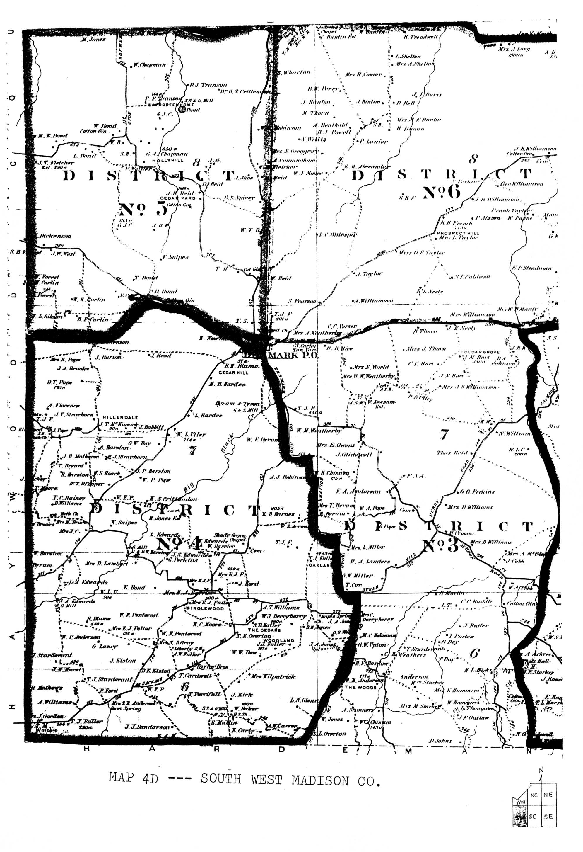 Maps Of Madison County Tennessee Historical And Genealogical
