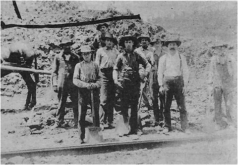 railroad workers in the 1800s