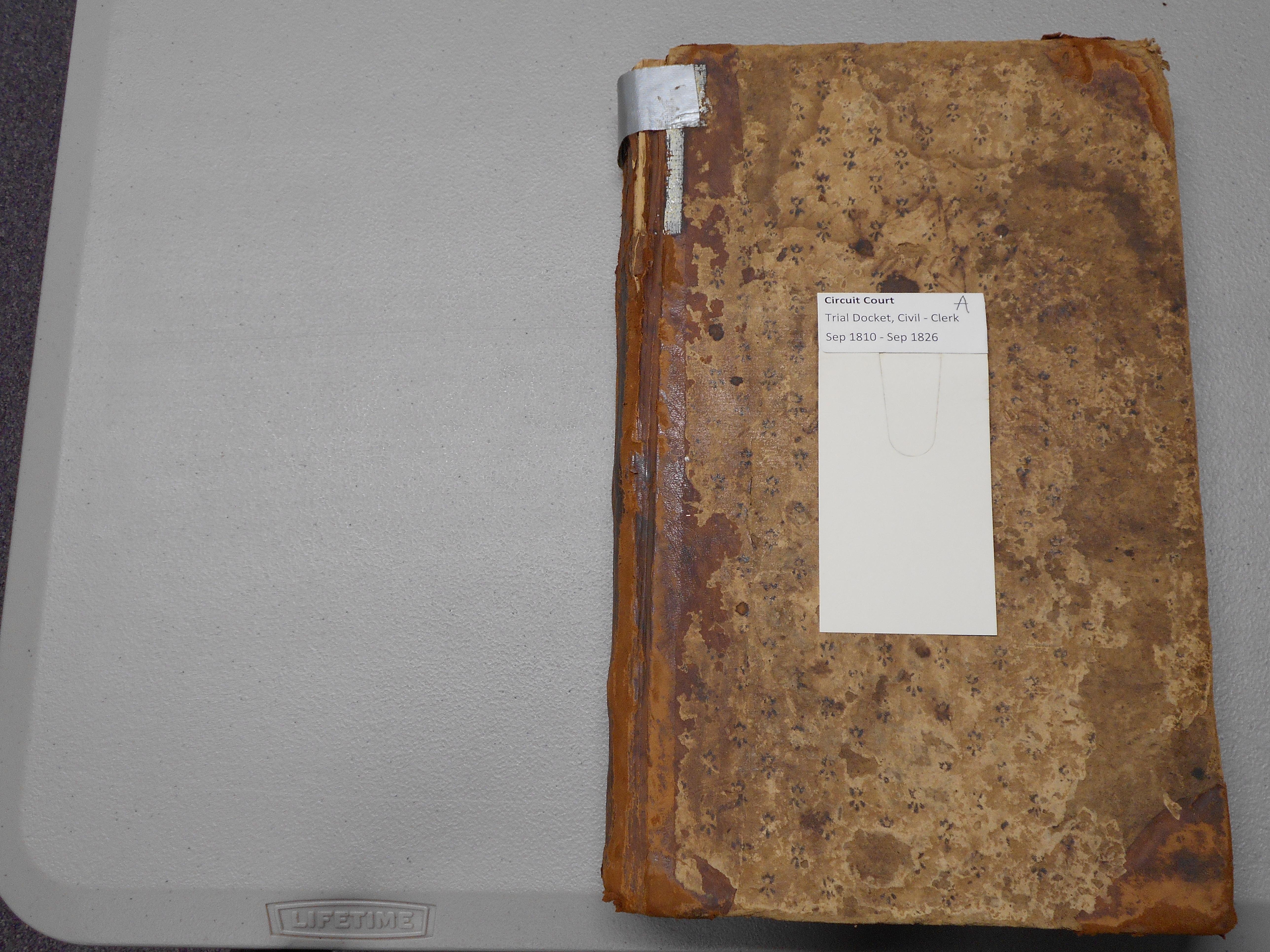 Circuit Court Trial Docket, 1810-1826