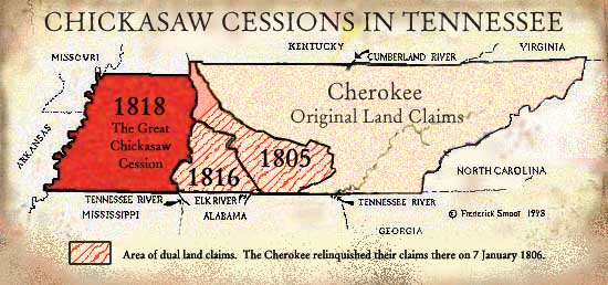 East Tennessee Ford >> TNGenWeb, Treaties, Cessions, and the Chickasaw Nation