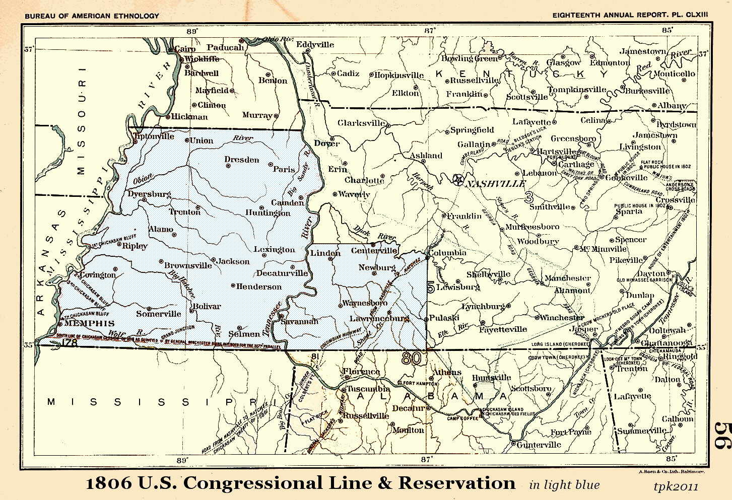 Map Of West Tennessee TNGenWeb Tennessee 2nd Surveyor District Map Project